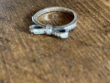 Genuine Pandora Silver Classic Bow Ring - Size 52 - Superb condition worn  once