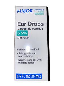 Major Pharmaceuticals Ear Wax Removal Drops, Nonirritating (Debrox Generic) 15ml