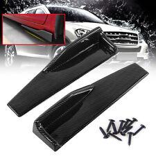 Pair Carbon Fiber Black Car Side Anti-scratch Skirt Spoiler Rocker Splitters Kit