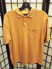 Men's Arrow Short Sleeve Polo Shirt Orange L Large B14