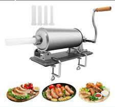 Stainless Steel Horizontal Sausage Stuffer 3l 7lbs Maker Meat Filler Commercial