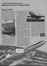 PAN AM 707 JET MAKES HISTORY 3/5/69 ARCTIC SKIES AC CAROUSEL OVER NORTH POLE AD