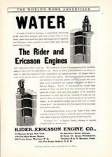 1902 ad Vintage The Rider and Ericsson Engine Water Barney and Berry Skates