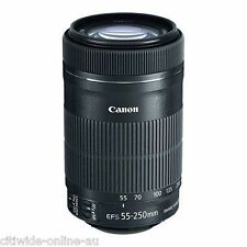 Canon EF-S 55-250mm f/4.0-5.6 IS STM Lens Original Box Fast Ship
