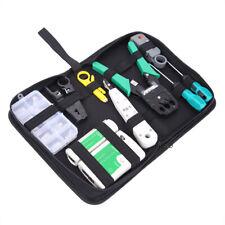 Network Ethernet Lan Tool Set Rj45 Cat5e Cat6 Cable Tester Crimper Crimping Kit
