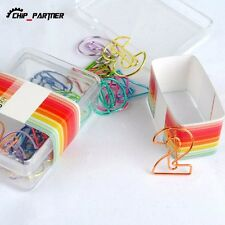 Number Shaped Paper Clips Metal Multicolor Bookmark Reading Office Stationery