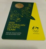 2020 Australian Olympic Team 50 Cent Gold Plated Coin UNC. Lmtd. Mintage 20,000!