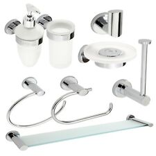 """Wall Mounted Bathroom Accessories Chrome """"Eternity"""" - Concealed fixings"""