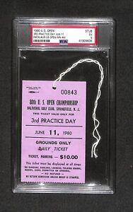 JACK NICKLAUS 1980 US OPEN CHAMPIONSHIP TICKET BADGE RARE!!! PSA 4TH WIN POP 1