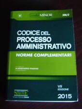 Codice del processo amministrativo 2015 Edizioni Giuridiche Simone minor diritto