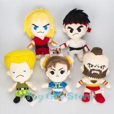 5 Pcs/Set Street Fighters Characters Ryu A Gulie Chun Li Plush Doll Stuffed Toy