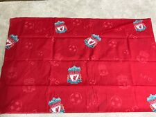 Liverpool football club emblems footballs red yellow craft remnant fabric piece