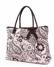 New Belvah Quilted Paisley Large Tote Handbag Purse Qpf2705 Pkbr Bs500