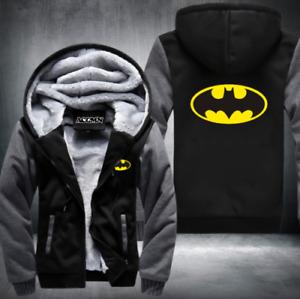 Batman warm Thicken Hoodie Jacket Cosplay Sweater fleece coat clothing
