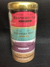 Zhena's Gypsy Tea, Organic Tea Sampler Tins, 16 Count Tea Sachets