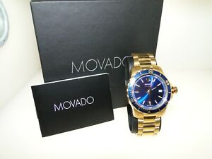 BEAUTIFUL MOVADO 40 MM GOLD-TONE STAINLESS STEEL MEN'S WRISTWATCH SERIES 800