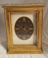 Vintage General Electric Clock Gold Gilt Florentine Style Case