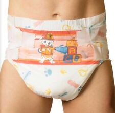 Tykables Puppers Single Nappy Sample - ABDL Adult Diaper - Size M