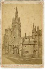 France, Le Folgoët, Eglise Notre Dame  Vintage albumen print.  Tirage albuminé
