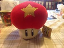 "Mario Nintendo Plush-7"" Star Life Mushroom, New With Tag"