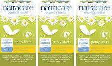 Natracare Organic Cotton Mini Panty Liners. Chlorine Free x 3 Packs