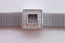 QVC Nour Mesh & Crystal Square Bracelet Bn