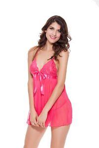 Love Sensation Women Lingerie V Neck Nightwear Sleep Sexy Hot Lace Chemise Mini