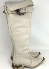 Donald J Pliner Crystal Embellished Over Knee Boots Western Couture Sz 6 EUC