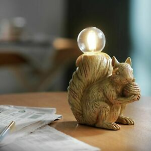 Habitat Cyril The Squirrel Table Lamp - Light Wood Effect Christmas Present Idea