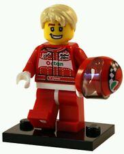 LEGO Collectible Race Car Driver Minifigure Series 3 w/ Hair, Helmet &base plate