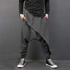 5ac55fbebb Fashion Men Drape Drop Crotch HAREM Pants Drawstring Baggy Dancing Trousers  XL Dark Grey