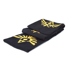 AWESOME THE LEGEND OF ZELDA TRIFORCE TILED PRINT BLACK SCARF (BRAND NEW)