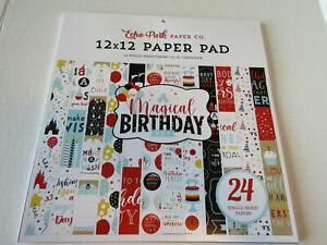 Echo Park Magical Birthday  Boy 12 x 12 Paper Pad 24 Single Sided Paper Disney