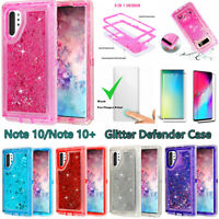 For Samsung Galaxy Note 10/10+ Glitter Defender Case W/Screen Fits Otterbox Clip
