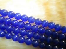"8mm dark blue Mexican Opal Gemstone Rice Loose Beads 13""##MJ168"