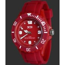 New Red Unisex Mens Womens Silicon Rubber Sports Watches Athletic Watch