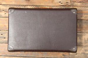 Vintage Medium Brown Suitcase - SMS Made in UK - 46x30x14.5cm