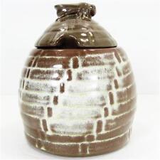 Frankoma Beehive Honey Pot Jar Desert Gold Sapulpa Clay