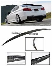 For 11-Up BMW F10 5-Series 4Dr Performance Style Carbon Fiber Rear Trunk Spoiler
