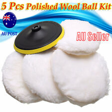 "5x7"" 180mm Soft Wool Car Detailing Polishing Buffer Polisher Bonnet Pad Loop MN"
