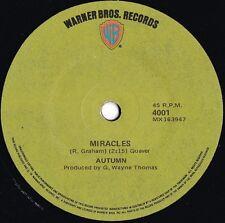 Autumn ORIG OZ 45 Miracles VG+ '72 Warner Prog Rock Pop G.Wayne Thomas