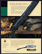 2003 BENELLI Super Black Eagle SHOTGUN Print AD Collectible Advertising