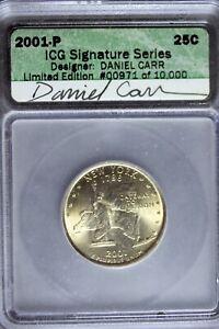 2001 - P ICG SIGNATURE SERIES DANIEL CARR New York State Quarter! #B24888