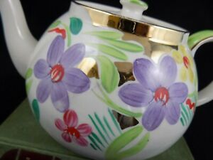(TP45) - Vintage Shabby Chic Pretty China Teapot Lingard Webster