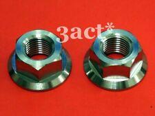 2 pcs Titanium / Ti M14 x 1.5mm Pitch Sprocket Flange Bolt Nut