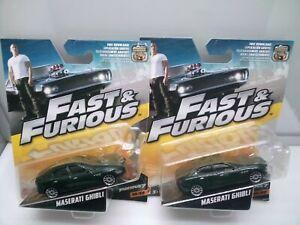 Mattel Fast & Furious Movie Cars / Maserati Ghibli - Dark Green - Models x2