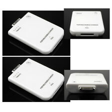 2 2800MAH EXTERNAL WHITE BATTERY POWER CHARGER 30-PIN IPHONE 4S 4 3GS IPOD TOUCH