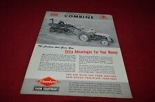 Ford Tractor Dearborn Wood Bros Combine Dealers Brochure YABE11