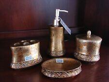 Croscill Bijou Bathroom Vanity Accessories Soap Dish Jar Lotion Pump Dispenser +