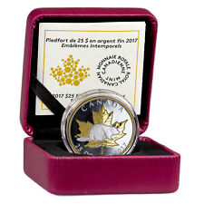 2017 Canada $25 1oz Piedfort Gilt PF Silver Maple Timeless Icons In OGP SKU45230